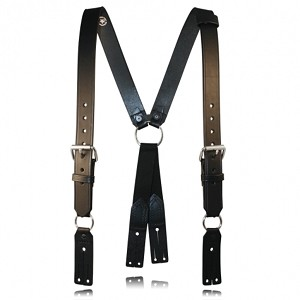 Fireman's Leather Suspenders
