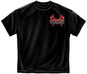 Absolute Volenteer Firefighter Mens Tee Black