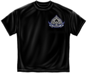 Aces Up Mens Tee Black