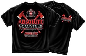 Absolute Volunteer Firefighter Shirt, Black