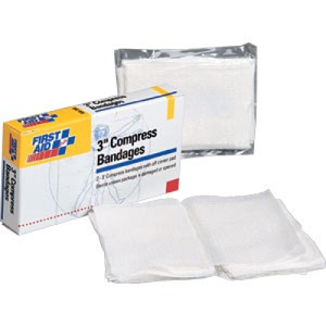 "3"" Off Center Compress Bandages, 2/Box"