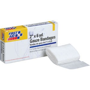 "2"" x 6 yd Gauze Bandages, 2/Box"