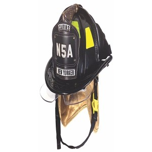 MSA/Cairns N5A New Yorker Deluxe Leather Helmet with Bourkes
