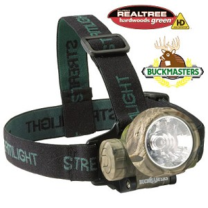 Buckmasters Camo Trident with (3) Green LEDs & alkaline batteries. Camo