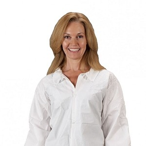 Lakeland MicroMax NS Long Sleeve Lab Coat - White
