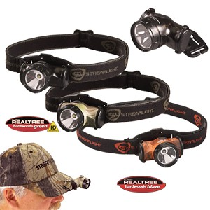 Enduro with alkaline batteries. Visor Clip and Elastic Strap. Camo