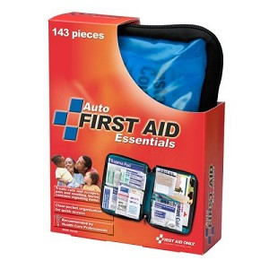 143-Piece Auto First Aid Kit, Softpack Case