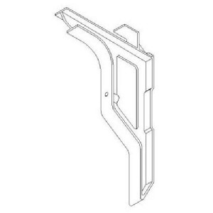 Cast Products Ladder Bracket, Ball Burnished