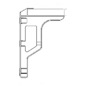 Cast Products Ladder Bracket Single Uni-Strut Mount (Wheel-A-Bated Finish)