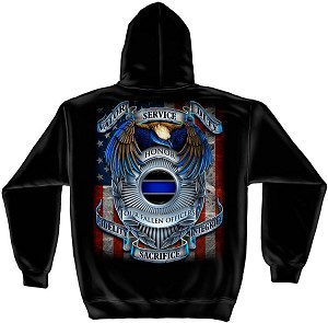 Hooded Sweat Shirt Honor our fallen officers
