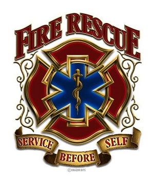 Reflective Decal Fire Rescue Classic