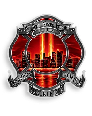 Reflective Decal Red high honor Firefighter Tribute