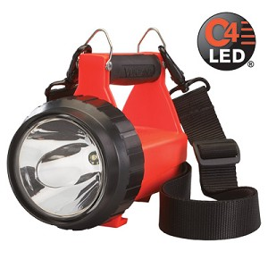 Fire Vulcan LED (WITHOUT CHARGER)- with dual rear LEDs and quick release shoulder strap. Orange