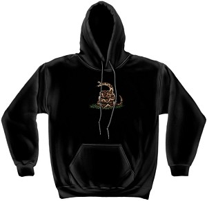 Hooded Sweat Shirt Don'T Tread On Me