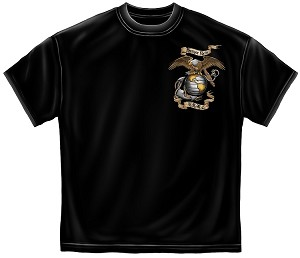 Eagle Usmc Black Mens Tee Black