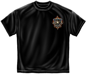 Once And Always A Marine Mens Tee Black