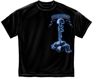 Usmc Never Forget Fallen Soldier Mens Tee Black