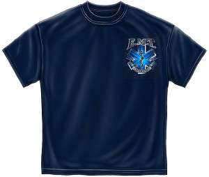 On Call For Life Emt Mens Tee Navy