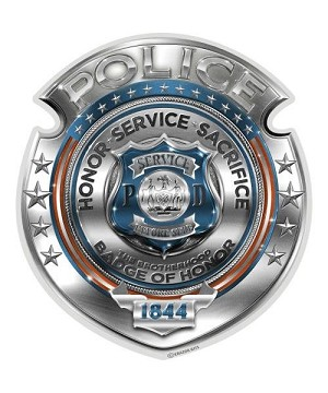 Reflective Decal Police Honor Courage sacrifice badge