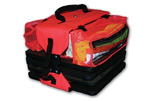Saddle Bag for Storage, Fits 4 & 6 Cone Wire/Mesh Totes
