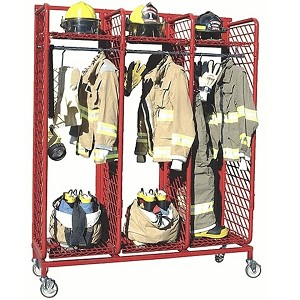 "Red Rack Mobile Gear Storage, 20"" Stalls"