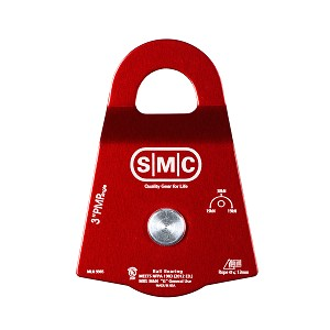 "PMI SMC 3"" Single Prusik Minding Pulley NFPA - Red"
